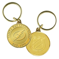 Tampa Bay Lightning NHL Tampa Bay Lightning Bronze Coin Keychain