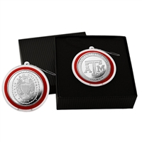 Texas A&M Universitysilver Coin Ornament