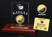 University of Kansas 24KT Gold Coin Etched Acrylic