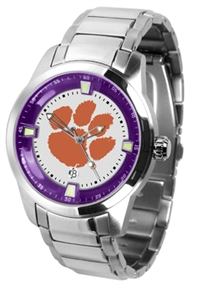 Clemson Tigers Titan Watch - Stainless Steel Band