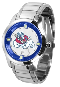 Fresno State Bulldogs Titan Watch - Stainless Steel Band