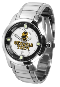 Georgia Tech Yellow Jackets Titan Watch - Stainless Steel Band