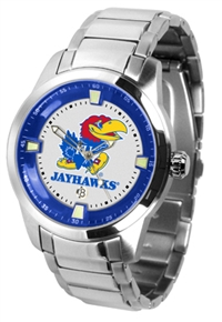 Kansas Jayhawks Titan Watch - Stainless Steel Band