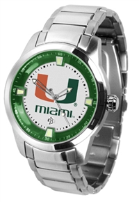 Miami Hurricanes Titan Watch - Stainless Steel Band
