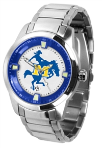 McNeese State Cowboys Titan Watch - Stainless Steel Band