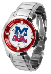 Ole Miss Rebels Titan Watch - Stainless Steel Band