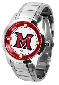 Miami (Ohio) Redhawks Titan Watch - Stainless Steel Band