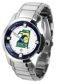 North Carolina Wilmington (UNCW) Seahawks Titan Watch - Stainless Steel Band