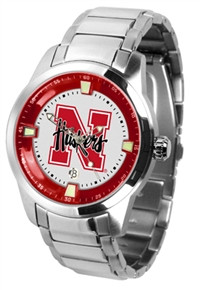 Nebraska Cornhuskers Titan Watch - Stainless Steel Band