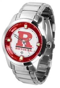 Rutgers Scarlet Knights Titan Watch - Stainless Steel Band