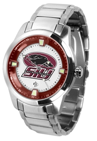 Southern Illinois Salukis Titan Watch - Stainless Steel Band