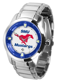 Southern Methodist Mustangs Titan Watch - Stainless Steel Band