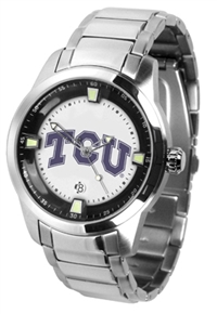 Texas Christian (TCU) Horned Frogs Titan Watch - Stainless Steel Band