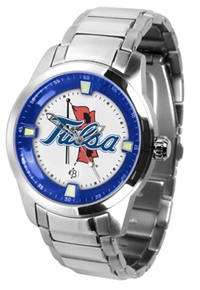 Tulsa Golden Hurricane Titan Watch - Stainless Steel Band