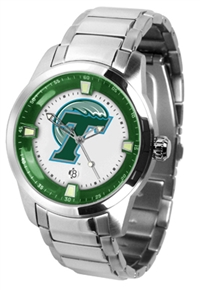 Tulane Green Wave Titan Watch - Stainless Steel Band