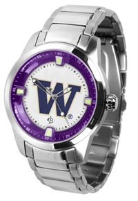 Washington Huskies Titan Watch - Stainless Steel Band