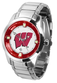 Wisconsin Badgers Titan Watch - Stainless Steel Band