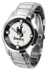 Wyoming Cowboys Titan Watch - Stainless Steel Band