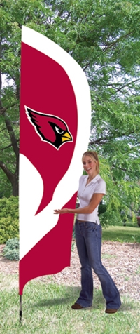 Arizona Cardinals NFL Tall Team Flag with Pole