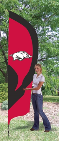 Arkansas Razorbacks Tall Team Flag with Pole