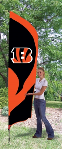 Cincinnati Bengals NFL Tall Team Flag with Pole