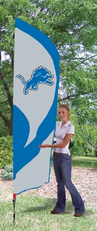 Detroit Lions NFL Tall Team Flag with Pole