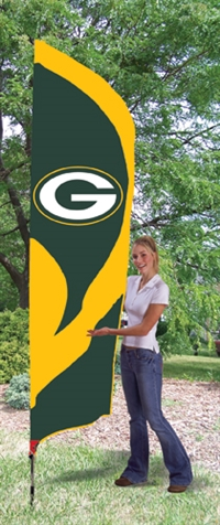 Green Bay Packers NFL Tall Team Flag with Pole