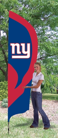 New York Giants NFL Tall Team Flag with Pole