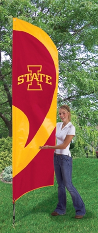 Iowa State Cyclones Tall Team Flag with Pole