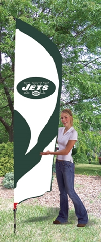 New York Jets NFL Tall Team Flag with Pole