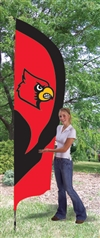 Louisville Cardinals Tall Team Flag with Pole