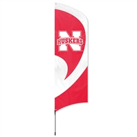 Nebraska Huskers Tall Team Flag with Pole