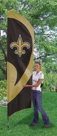 New Orleans Saints NFL Tall Team Flag with Pole