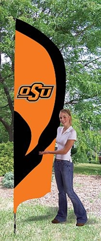Oklahoma State Cowboys Tall Team Flag with Pole