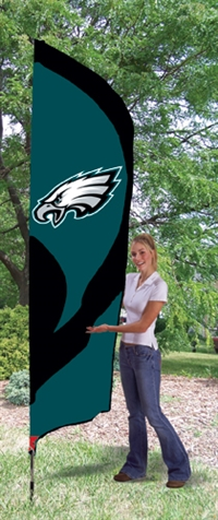 Philadelphia Eagles NFL Tall Team Flag with Pole