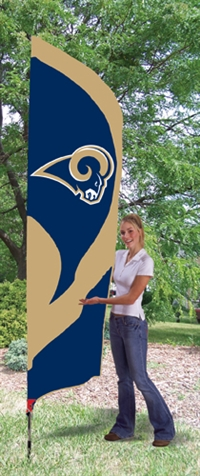 St. Louis Rams NFL Tall Team Flag with Pole