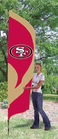 San Francisco 49ers NFL Tall Team Flag with Pole