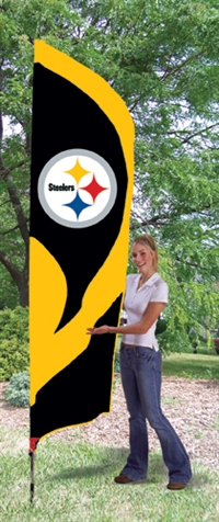 Pittsburgh Steelers NFL Tall Team Flag with Pole