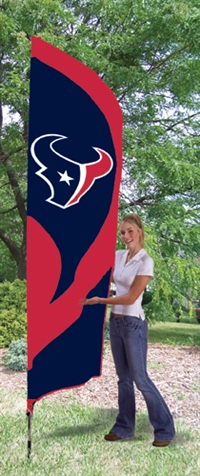 Houston Texans NFL Tall Team Flag with Pole