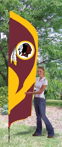 Washington Redskins NFL Tall Team Flag with Pole