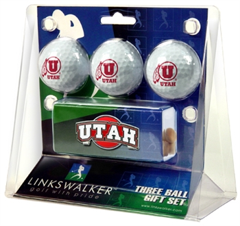 Utah Utes Slider Hat Clip 3 Ball Gift Pack