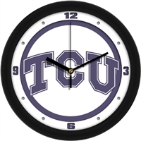 "Texas Christian Horned Frogs TCU 12"" Wall Clock - Traditional"