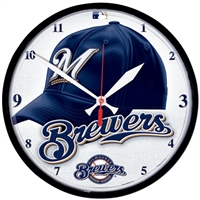 Milwaukee Brewers MLB Round Wall Clock