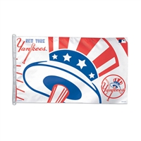 New York Yankees MLB 3x5 Banner Flag (Top Hat Design) (36x60)