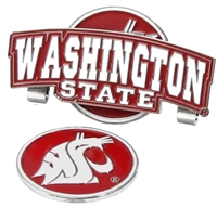 Washington State Cougars Slider Hat Clip Ball Marker