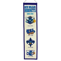 New Orleans Hornets NBA Heritage Banner (8x32)
