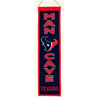 Houston Texans NFL Man Cave Vertical Banner (8 x 32)
