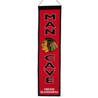 Chicago Blackhawks NHL Man Cave Vertical Banner (8 x 32)