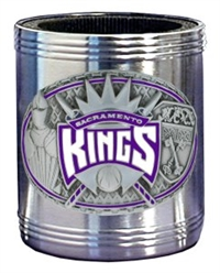 NBA Can Cooler - Pewter Emblem Sacramento Kings