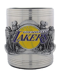 NBA Can Cooler - Pewter Emblem L.A. Lakers